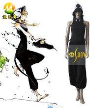 Anime japonés Cosplay Soul Eater Medusa negro trajes de Cosplay venta halloween party night ropa por encargo