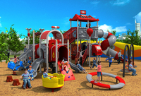 CE,ISO,TUV outdoor playground exported to Poland garden slide fire control type children play equipment YLW 171013