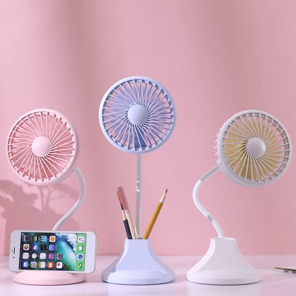 Protable Fan Usb Mini Electric Fan Night Light Table Fan 2 Speed Wind Adjustable Desk Lamp Multi Purpose