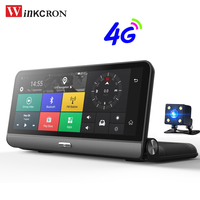 4G Car GPS DVR Camera 8.0 IPS Touch Android 5.1 WIFI Video Recorder Dash Cam FHD 1080P Dual Lens Registrar Parking Monitoring
