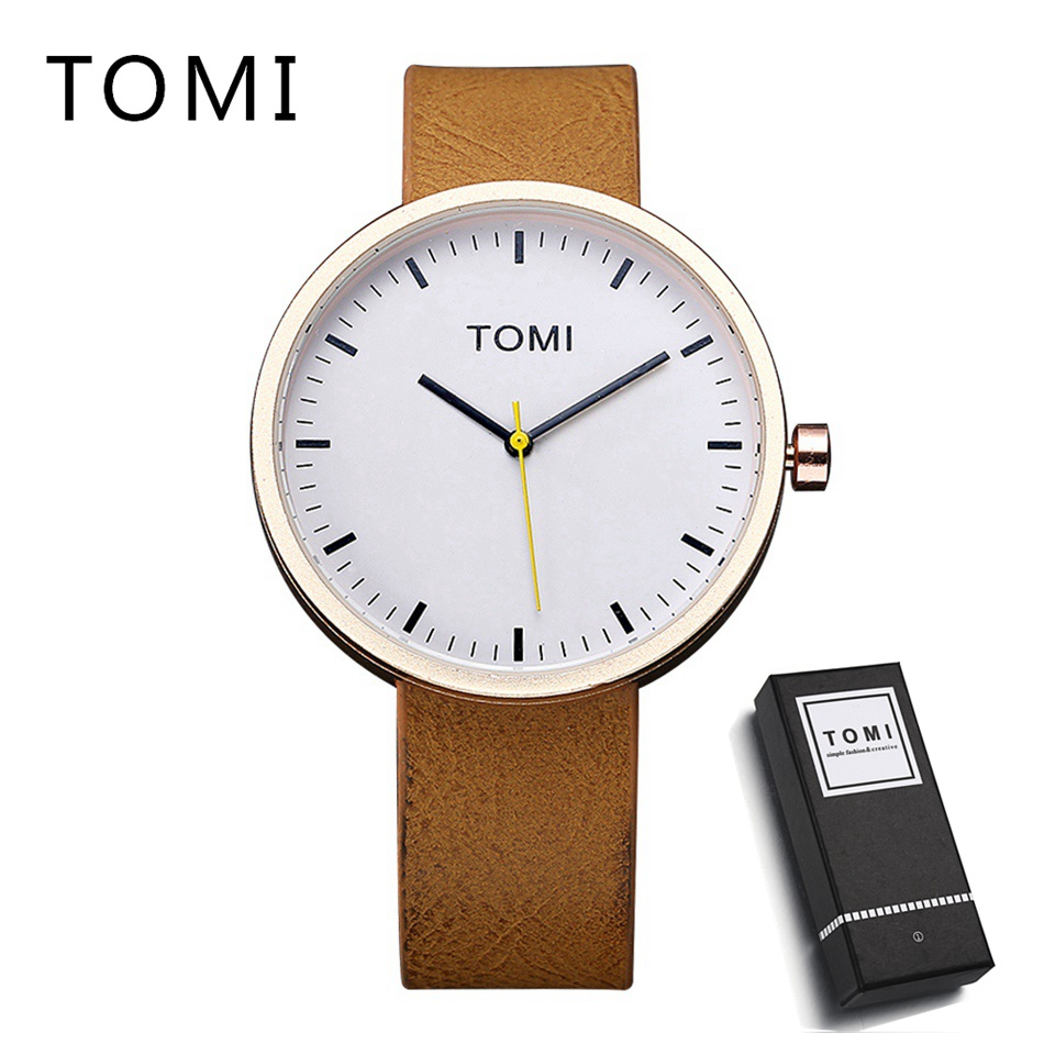 Men Watches Top Brand Luxury Hour Round Clock Male Fashion Casual Quartz Watch TOMI Men Leather Strap Sport Wrist Watch 2017 men xinge brand business simple quartz watches luxury casual leather strap clock dress male vintage style watch xg1087