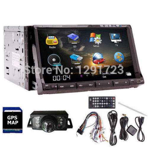 Double 2din 7 HD GPS Navigation font b Car b font DVD CD Video Player In
