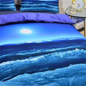 Image 4 - CAMMITEVER deniz dalga nevresim takımı nevresim yastık kılıfı ev tekstili çocuklar 3 Piece AU kral kraliçe