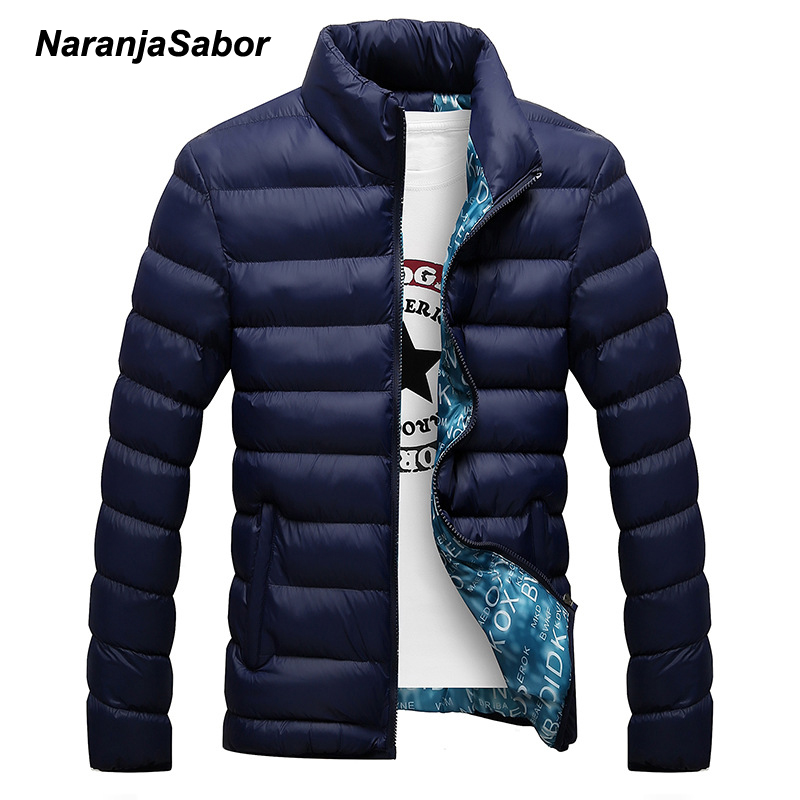 NaranjaSabor 2017 New Men's Parkas Winter Jacket Mens Casual Jackets Male Thick Coats Men Warm Outwear Men's Brand Clothing 4XL free shipping winter parkas men jacket new 2017 thick warm loose brand original male plus size m 5xl coats 80hfx