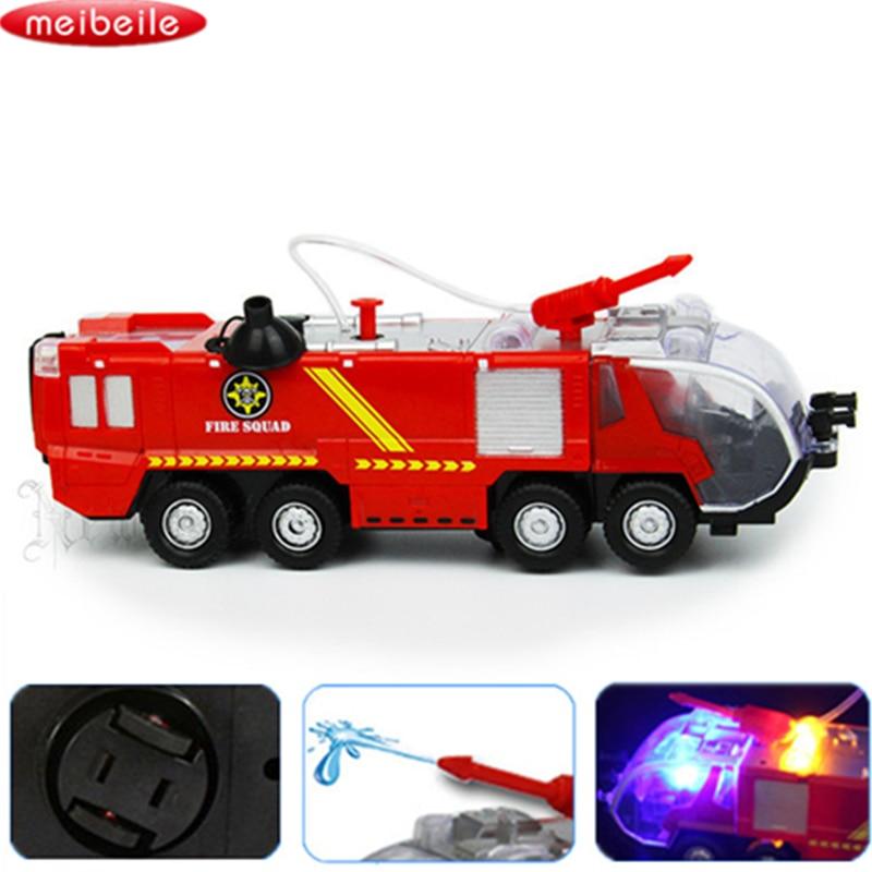 Spray Water Gun Toy Truck Fireman Sam Fire Truck Vehicles Car Music Light Cool Educational Toys For Kids Boys Firetruck Juguetes
