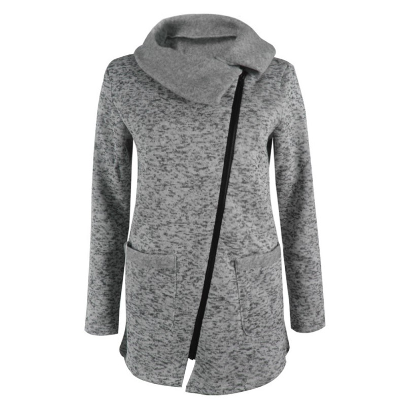 Winter Warm Casual Women Hoody Jacket Long Zipper Sweatshirt Plus Size Outwear Tops Coat