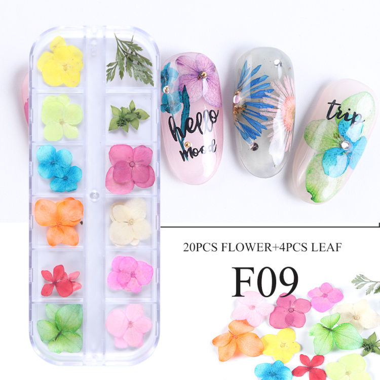Dried Flowers Nail Art Decoration Natural Dry Floral Leaf DIY Sticker Beauty Jewelry Tips Colorful Nail Gel Ornaments 01 (12)
