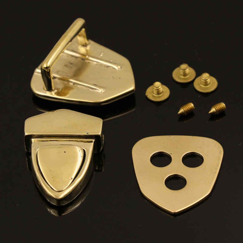 1PCS Bag Closure Catch Tuck Lock Clasp Fasteners Craft Metal Handbag Hardware