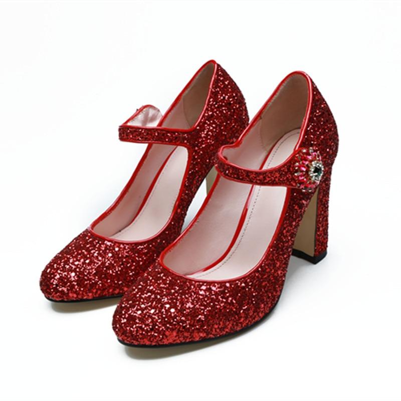 Chunky Wedding Heels: New 2018 Luxury Design Bling Bling Wedding Shoes High Heel