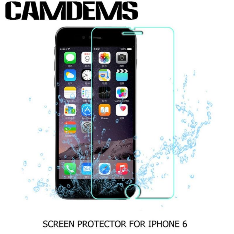 bilder für CAMDEMS 100 stücke pelicula de vidro Explosionsgeschützte Erstklassiger Ausgeglichenes schutz für iphone 6 6s 6 plus 7 7 plus 5 s 5se