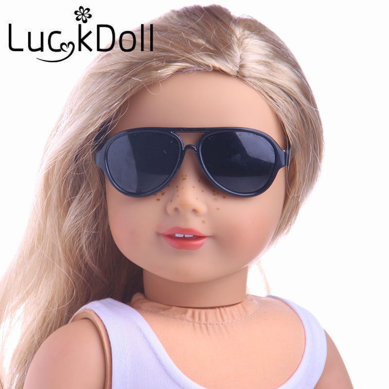 Free Shipping Doll Accessories 5 colors round-shaped Round glasses glasses sunglasses suitable for 18 inch American girl doll new style doll accessories round shaped glasses sunglasses suitable for 1 3 bjd dolls mini doll glasses for dolls good quality
