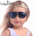 Free Shipping Doll Accessories 5 colors round-shaped Round glasses glasses sunglasses suitable for 18 inch American girl doll