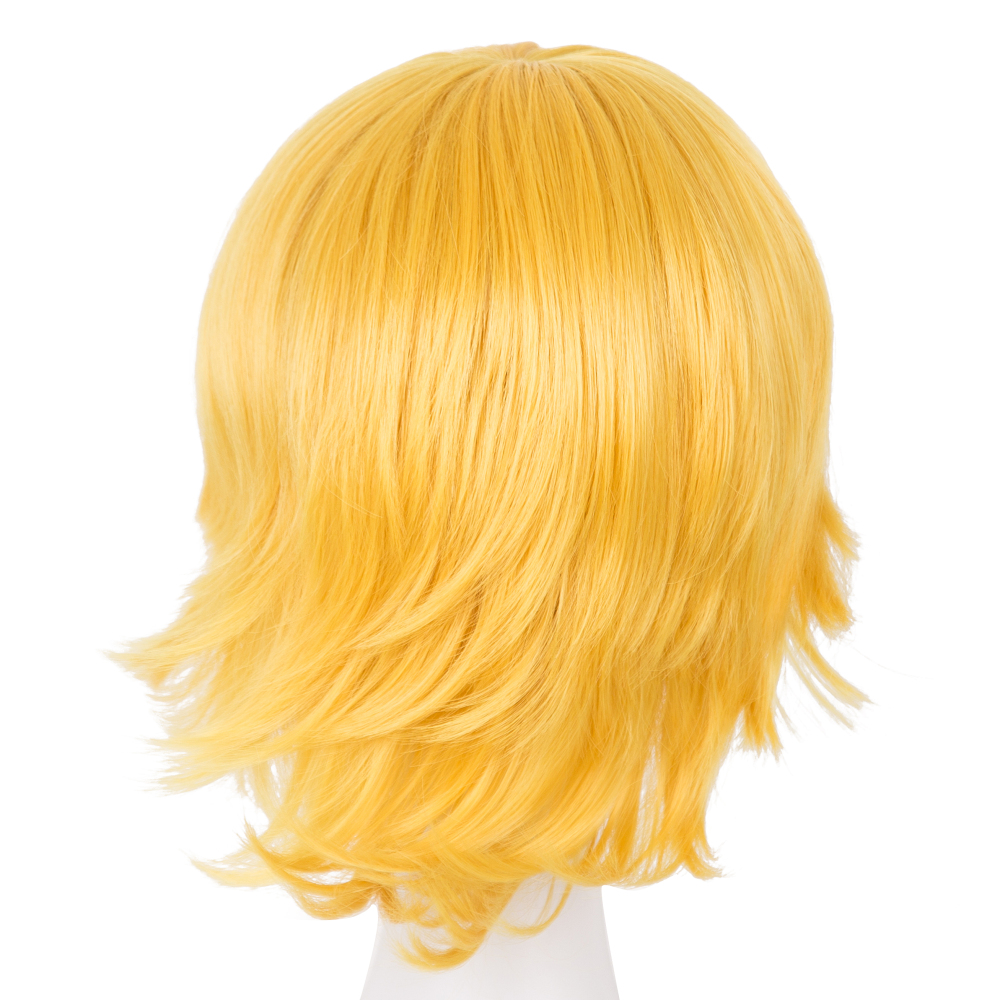 Cosplay Wig Fei-show Synthetic Heat Resistant Fiber Short Wavy Hair Women Ladies Costume Halloween Carnival Events Hairpiece Synthetic Wigs