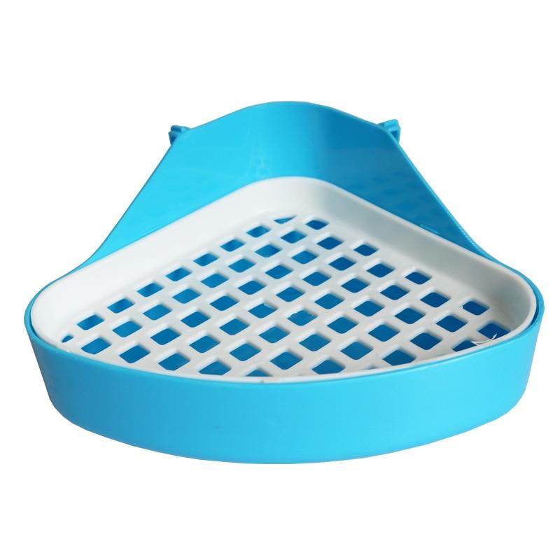 Pet Cat Rabbit Pee Toilet Small Animal Hamster cage Guinea Pig Litter Tray Corner Pet Litter Training Tray