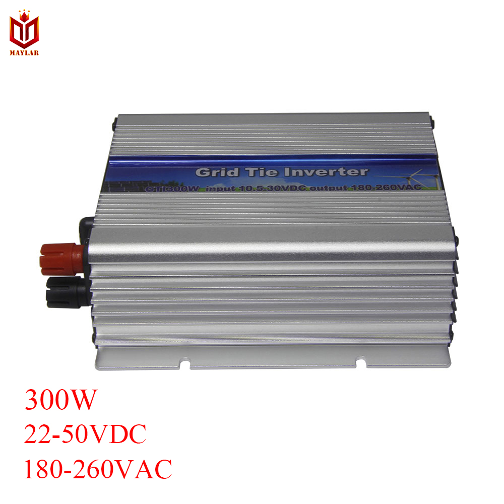 MAYLAR@ 300W Grid TIe Micro Inverter with MPPT Function Pure Sine Wave Inverter,Input 22-50VDC,Output 220V/230V/240VAC 50Hz/60Hz mini power on grid tie solar panel inverter with mppt function led output pure sine wave 600w 600watts micro inverter