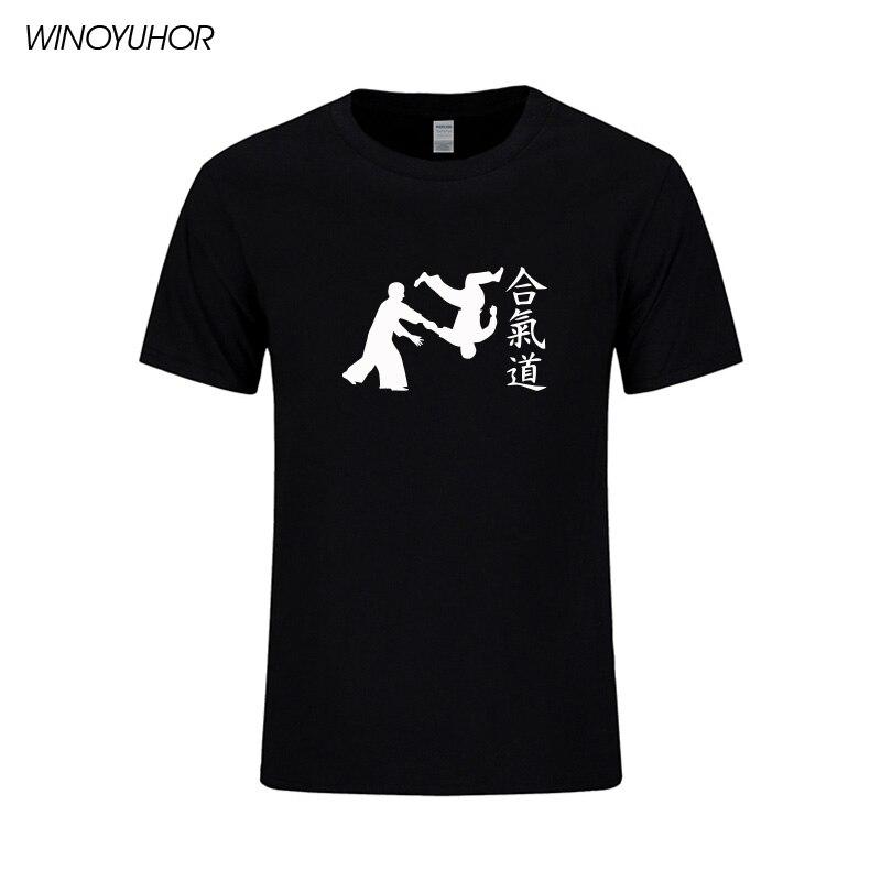 Aikido Martial Arts T-shirt Männer 2019 Neue Mode Kurzarm Oansatz - Herrenbekleidung - Foto 4