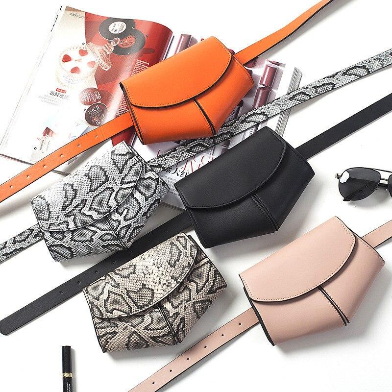 Serpentine Waist Bag PU Leather Fanny Pack Ladies Pink Women Mini Disco Waist Pack Luxury Handbags Women Bag Designer Chest Bag