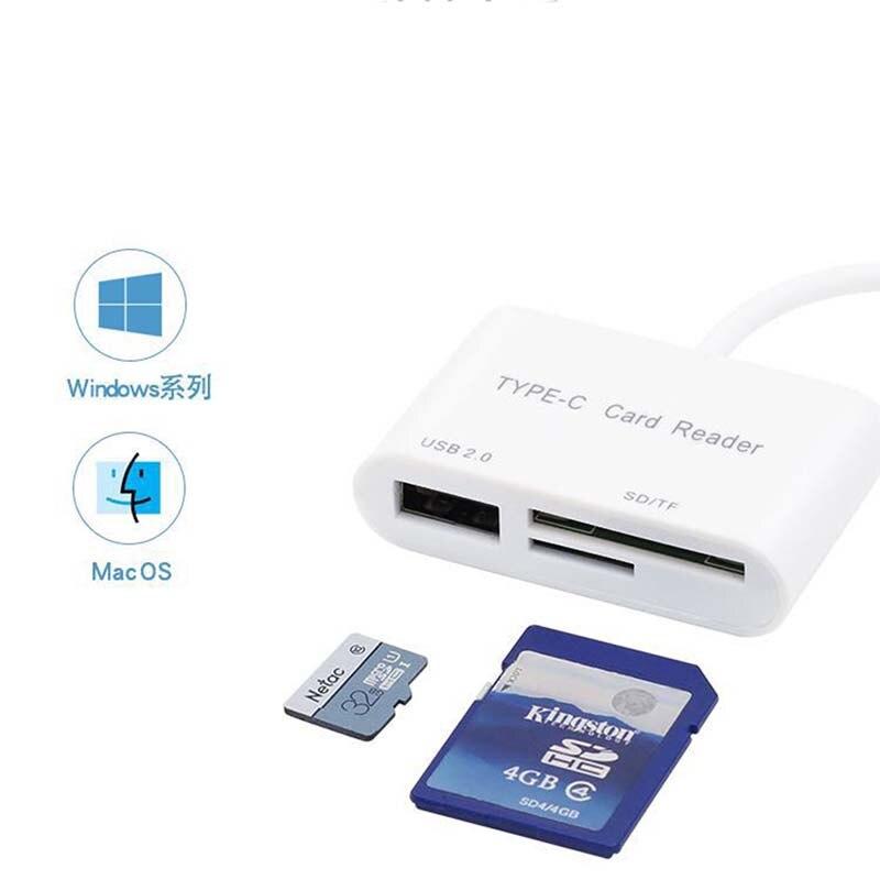 Nouveau lecteur de carte type-c lecteur de carte OTG multifonction TF téléphone portable lecteur de carte USB USB-C trois-en-un
