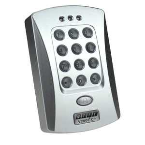 Image 4 - Free shipping RFID  door access controller keypad 125KHz card reader door lock with high quality silver color V2000 C+ model