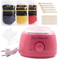 Bikini Trimmer Hair Removal Cream Heater Machine Set Hot Film Hard Wax Beans Depilatory Tools Body Waxing Brazilian