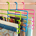 5 Layer colorful pants  hangers holders trousers towels  hanger scarf silk tie mounts plastic clothes peg