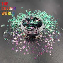 TCT-351 Chameleon Color Four Angle Stars Nail Glitter Nail Art Decoration Body Art Tumblers Crafts Festival Accessories supplier