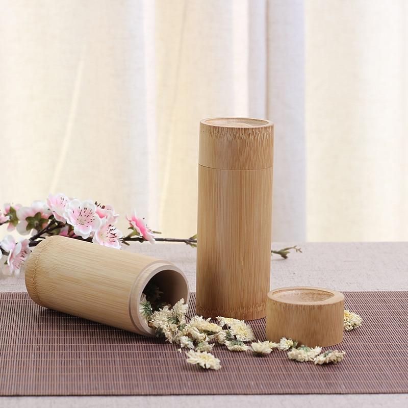 US $11.65 35% di SCONTO|New Bamboo Lattine Barattoli per Lo Stoccaggio  Contenitore Di Bambù cucina barattoli di Tè Fatto A Mano Naturale Della ...