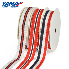YAMA Stripe Petersham Ribbon 50Yards Per Roll 9mm 16mm 25mm Ribbons 3/8