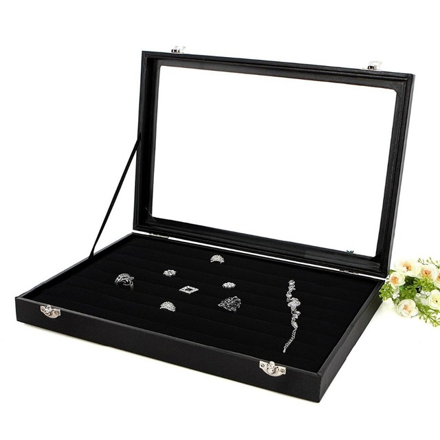 Image result for velvet watch tray with cushion china black