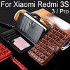 For Xiaomi Redmi 3s Case Luxury Crocodile Snake Leather Flip Business Style Wallet Phone Cases For