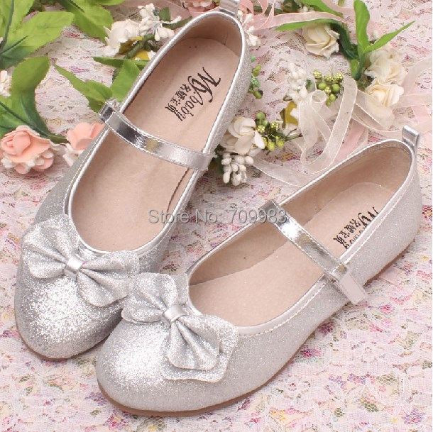 b2b5e9d271f6 (3 Colors)Top Selling Pretty Girls Shoes Fashion Silver Glitter Kids Party Shoes  for Wedding Dropshipping