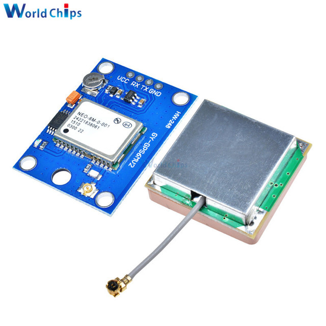 1Pcs NEO-6M GPS Module GY-GPS6MV2 NEO6MV2 Buit-in EEPROM APM2.5 Antenna RS232 TTL Board for Arduino Flight Control 3V-5V