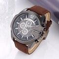 Mens relógios top marca de luxo 2016 esporte relógios V6 homens relógio de couro militar moda relógio de quartzo hora de relógio relogio masculino