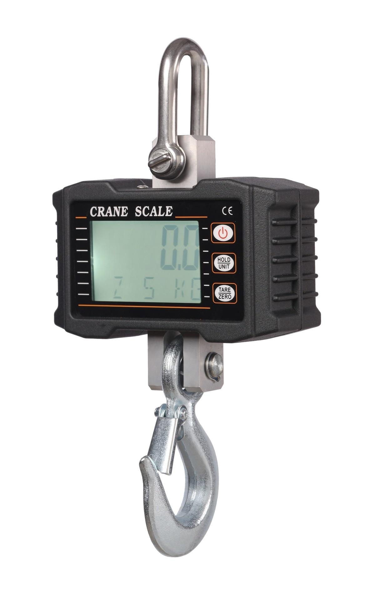 2018 HOT 1000kg 1T Digital Crane Hanging Scale Heavy Duty Industrial LCD Digital Display Hanging Hook Crane Scale цена