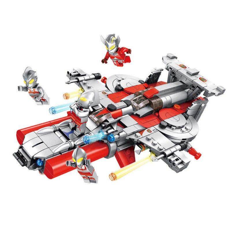 4 en 1 véritable créateur Star War Ultraman vaisseau spatial blocs de construction ensembles enfants classique Marvel M78 modèle jouets compatibles Legoings