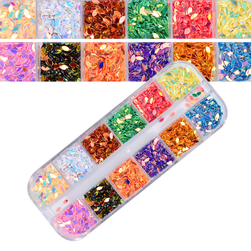 12 Color Box Crystal Colorful Jelly Rhinestones 3D Nail Art Decor Glitter  Gems Stones Manicure DIY Set-in Nail Glitter from Beauty   Health on ... 8f7a70a30943