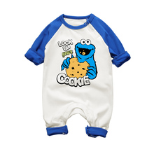 ELMO COOKIE MONSTER Newborn Baby Boy Girls Rompers Long Sleeve Romper Clothes Baby Jumpsuit For Babies Unisex Infant Clothing