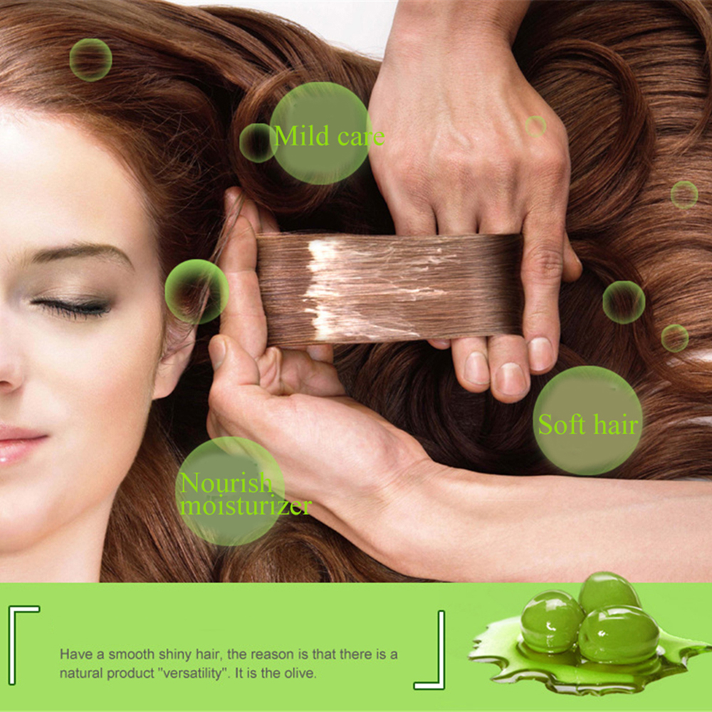 Natural Hair Care Product Olive Oil Hair Mask Moisturizing Deep Repair Frizz For Dry Damaged Hair Smooth Hair Conditioner 500ML