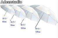 Белый мягкий зонт 43
