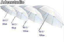 "Paraguas blanco Suave 43 ""/paraguas difusor Durable Cámara 40"" 102 cm Pulgadas Translúcido Photo Studio flash Suave paraguas CD50"