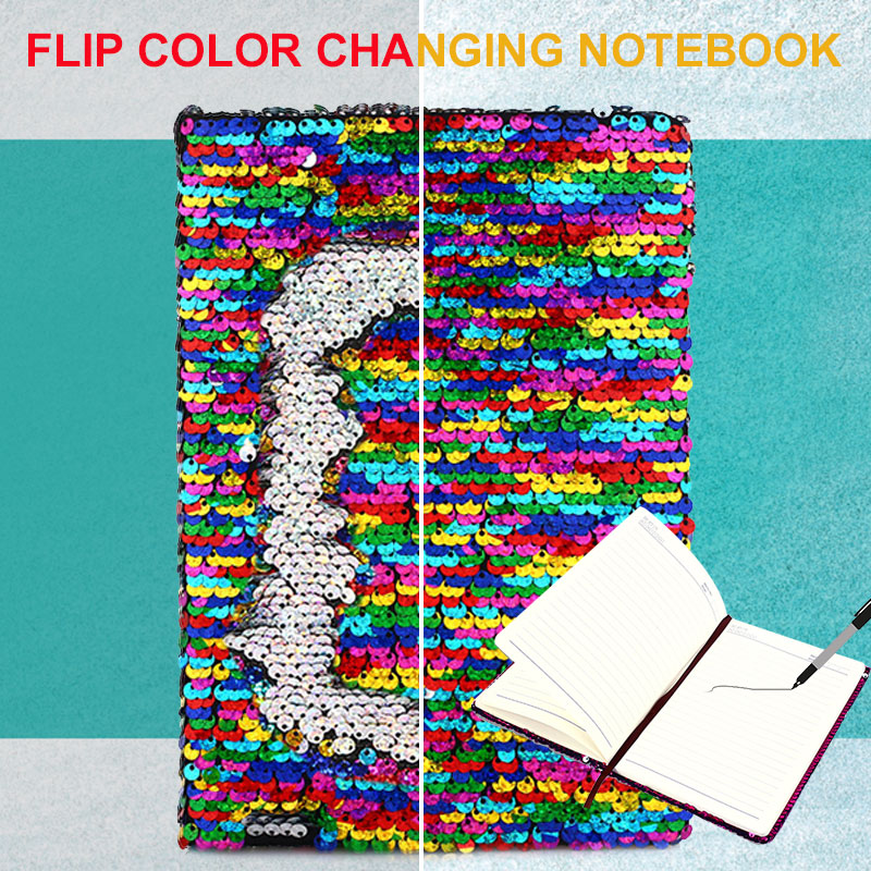 Sequins Diary Notepad Notebook Writing A5 DIY Notebooks Universal Daily Memos Creative
