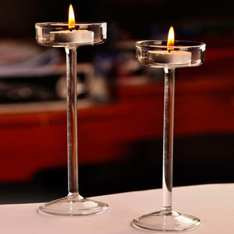 Big Offer F313c European High Candlestick Glass Candle Holder Romantic Dinner Decoration Tn99 Cicig Co