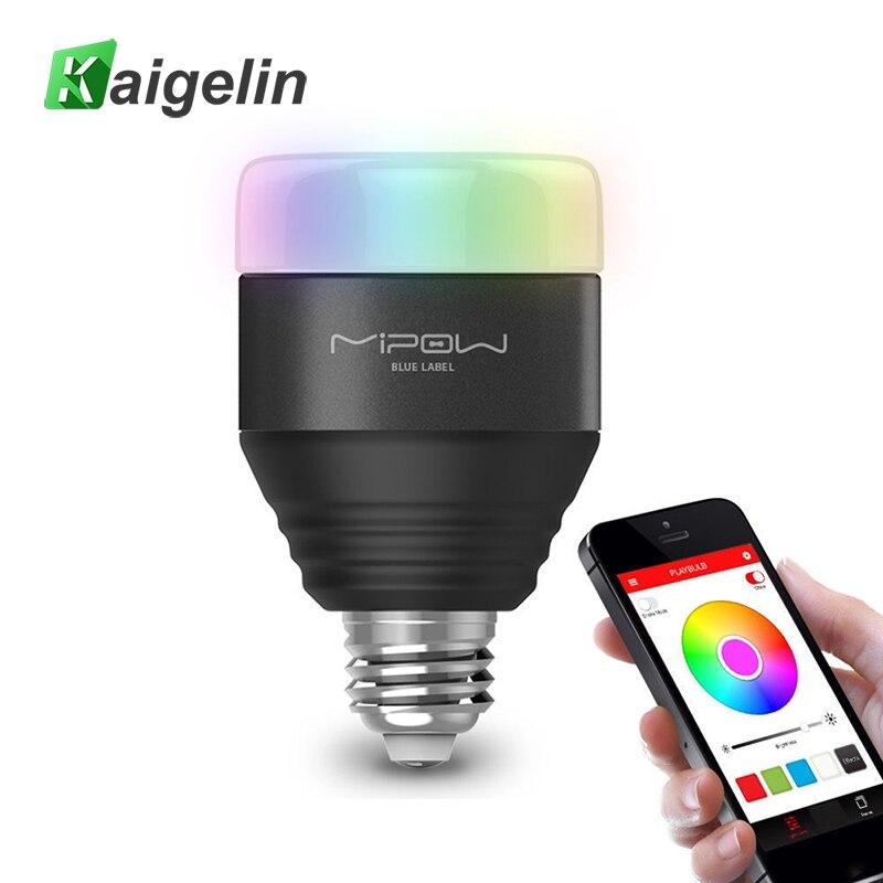 Умный интеллектуальный Bluetooth Светодиодный лампочки E27 Беспроводной мобильное приложение Remote Управление Цвет Сменные затемнения Bluetooth свет...