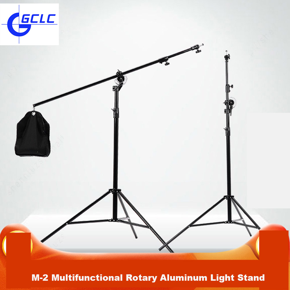 XINSHETU Photography Multifunctional Rotary Aluminum Cross Arm Light Stand Tripod For Photo Studio Softbox Video Flashes цена