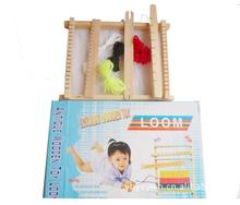 Free delivery, DIY weave educational toys, children's sweater knitting machine, hand looms, girl making handmade wool toys weaving loom dreams kids girl diy knitting wool machine woodlens penguin educational learn toys gift child playset hand crank
