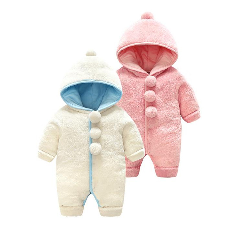Warm Hooded Baby Winter Clothes Boys and Girls Cotton Baby Romper Full Sleeve Baby JumpsuitWarm Hooded Baby Winter Clothes Boys and Girls Cotton Baby Romper Full Sleeve Baby Jumpsuit