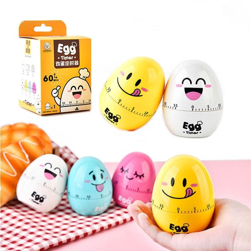 Cute Cartoon Egg Mechanical Timer for Kitchen 60 Minutes ...