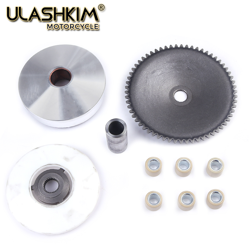 Motorcycle Atv Moped Scooter Clutch Variator Drive Pulley Assembly For Gy6 50 60 80 Cc 139qmb 137qma 4 Stroke Variator Assembly Agreeable To Taste Motorcycle Accessories & Parts
