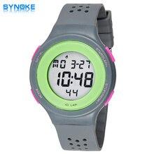 f0cd8f8ef51 2016 venda quente relógio do esporte homens mulheres SYNOKE marca de  relógios coloridos relógio à prova
