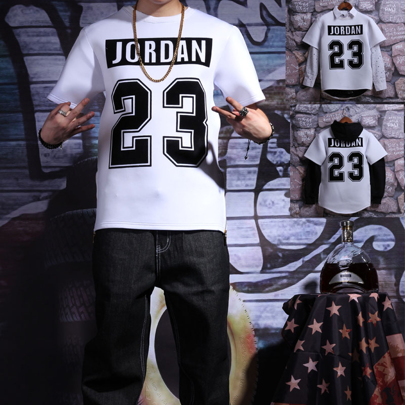 Jordan 23 letters printed tshirt men women streetwear hip hop t shirt men short sleeve high